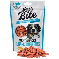LET'S BITE MEAT SNACKS Tuna & Codfish Bites 80g