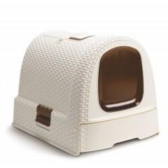 CURVER Toaleta dla kota - kremowy / brązowy