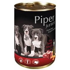 PIPER Junior z sercami wołowymi i marchewką 400g