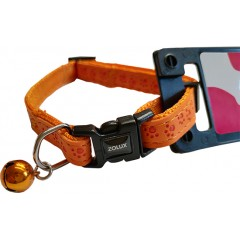 ZOLUX Obroża Mac Leather Pomarańczowa 10mm - dla kota