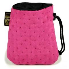 LAUREN DESIGN Pikowana torebka na smakołyki 15 x 13 cm - różowa