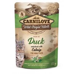 CARNILOVE CAT Pouch Duck and Catnip 85g (saszetka)