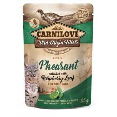CARNILOVE CAT Pouch Pheasant and Raspberry Leaves 85g (saszetka)