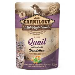 CARNILOVE CAT Pouch Quail and Dendelion Sterilized 85g