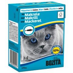 BOZITA Makrela - kawałeczki mięsa dla kotów 370g (galaretka)