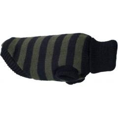 AMIPLAY Sweterek dla psa Glasgow 42 cm Paski khaki-czarne