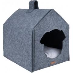 AMIPLAY Domek dla psa Quick Press 2in1 Hygge - Szary
