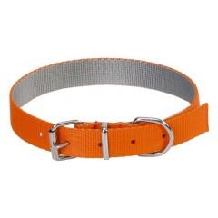 DINGO Obroża Energy Silver (1,6 x 40 cm) - pomarańczowo/szara