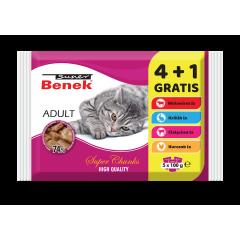 SUPER BENEK Adult Mix smaków 5x 100g (4 + 1 GRATIS)