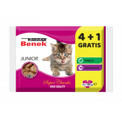 SUPER BENEK Junior Mix smaków 5x 100g (4 + 1 GRATIS)