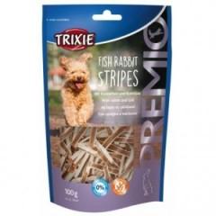 TRIXIE Premio Fish Rabbit Stripes - paski z rybą i królikiem 100g