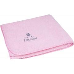 AMIPLAY Spa Ręcznik kąpielowy dla psa - Różowy