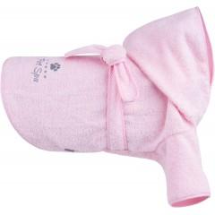 AMIPLAY Spa Szlafrok kąpielowy dla psa - Różowy