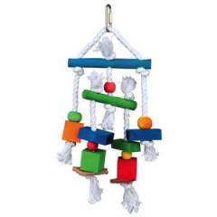 TRIXIE Zabawka wisząca dla ptaków - kolorowa 24cm