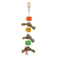 TRIXIE Węzły na sizalowym sznurku dla ptaków 43cm