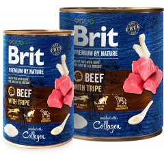 Brit Premium By Nature Beef&Tripes (puszka)