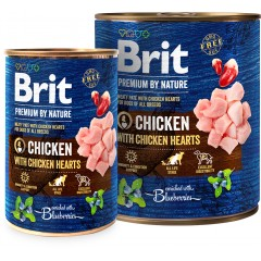 Brit Premium By Nature Chicken&Hearts (puszka)