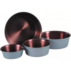 ZOLUX Miska antypoślizgowa Inox Copper - szara stalowa/miedziana