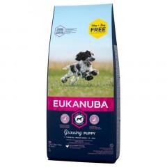 EUKANUBA Puppy & Junior Medium Breed 15kg + 3kg GRATIS