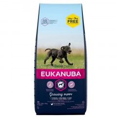 EUKANUBA Growing Puppy Large and Giant Breed 15kg + 3kg GRATIS