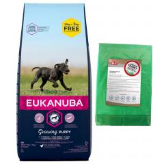 EUKANUBA Growing Puppy Large and Giant Breed 15kg + 3kg | + GRATIS: Mata 1 szt.