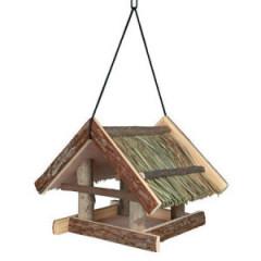 TRIXIE Naturalny karmnik wiszący ze słomianym dachem dla ptaków