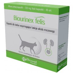 BIOWET Biourinex felis 45 kaps.