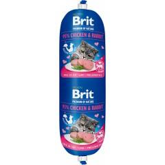 BRIT Premium CAT Sausage Chicken and Rabbit 180g (baton)