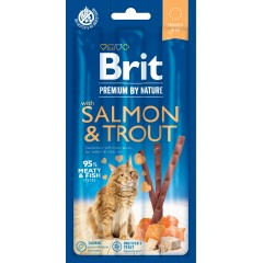 BRIT Premium by Nature CAT Przysmak Sticks Salmon and Trout 15g