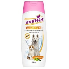 EUROWET Amiwet - Szampon odstraszający pchły i kleszcze dla psów i kotów z olejkiem neem 200ml