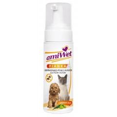 EUROWET Amiwet - Pianka odstraszająca pchły i kleszcze dla psów i kotów 150ml