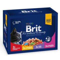 BRIT PREMIUM CAT Family Plate saszetki w sosie 12x 100g