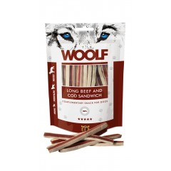 WOOLF Long Beef and Cod Sandwich 100g