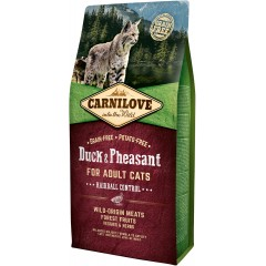 CARNILOVE CAT Grain-Free Duck and Pheasant Hairball Control - Kaczka i bażant