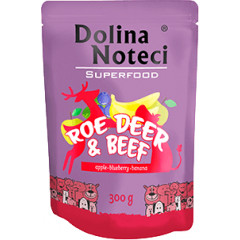 DOLINA NOTECI Superfood dla Psa Sarna i Wołowina 300g (saszetka)