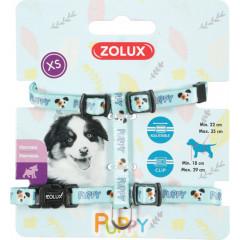 ZOLUX Szelki Puppy Mascotte 8 mm - niebieski