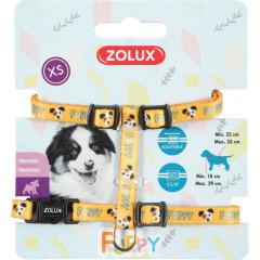 ZOLUX Szelki Puppy Mascotte 8 mm - żółty