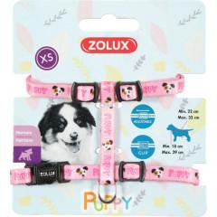 ZOLUX Szelki Puppy Mascotte 8 mm - różowy