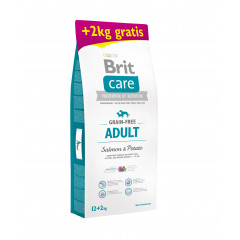 BRIT CARE Grain-Free Adult Salmon & Potato 12kg + 2kg GRATIS