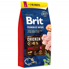 BRIT Premium by Nature Adult L (Large) 15kg + 3kg GRATIS