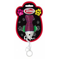 PET NOVA Zabawka dla kota kolorowa ryba - 10x4cm