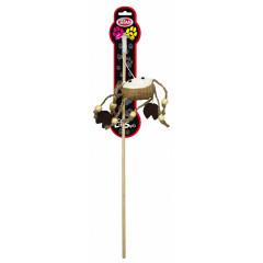 PET NOVA Zabawka dla kota drewniana wędka z krabem (dł. wędki - 40cm)