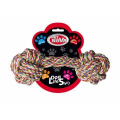 PET NOVA Hantel ze sznura bawełnianego 25cm