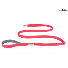 AMIPLAY Smycz regulowana Easy Fix Samba - Czerwona