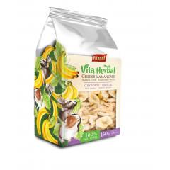 VITAPOL Vitaherbal Chipsy bananowe dla gryzoni i królika 200g