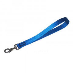 DINGO Krótka smycz rączka (2,5 x 40 cm) - niebieska