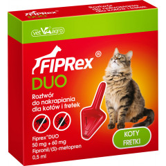 FIPREX DUO Krople - kot i fretka (1 pipeta x 0,5 ml)