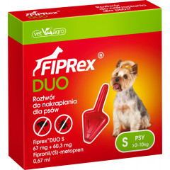 FIPREX DUO Krople S (2 - 10 kg) (1 pipeta x 0,67 ml)