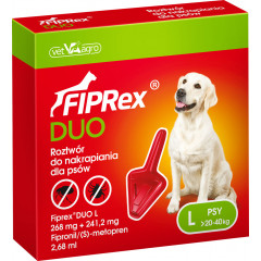 FIPREX DUO Krople L (20 - 40 kg) (1 pipeta x 2,68 ml)