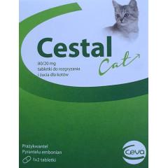 CESTAL Cat 80/20mg - tabletki do rozgryzania i żucia dla kotów na odrobaczanie